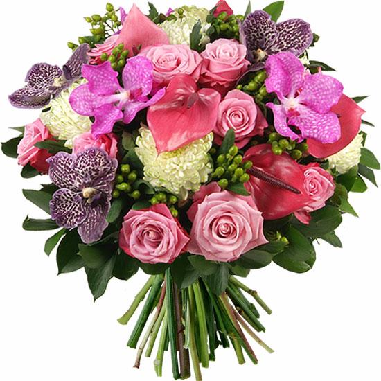 Gros pompon for Bouquet de fleurs pour 70 ans